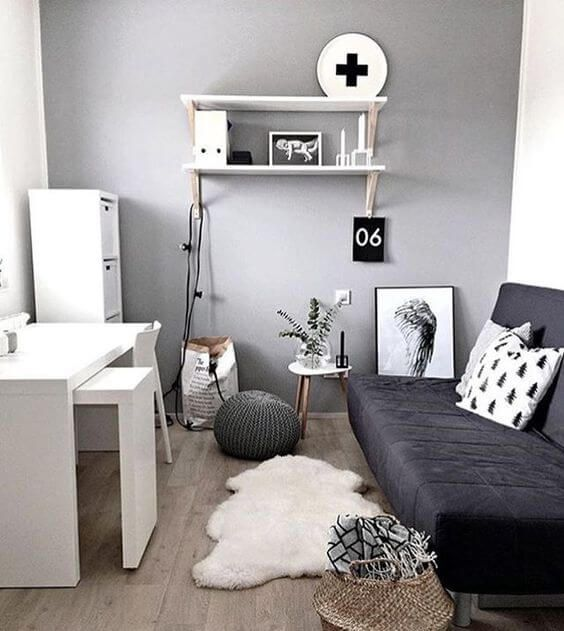 35 Office Space In Living Room Fitting Suggestions Guest Bedroom Office Home Office Guest Room Small Guest Bedroom