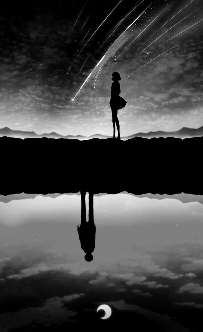 dark anime scenery  on We Heart It