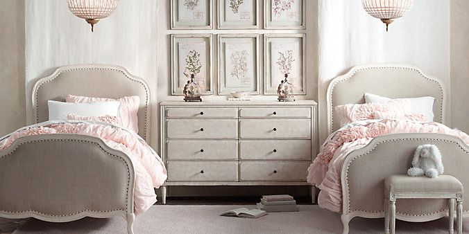 Pink Upholstered Bed