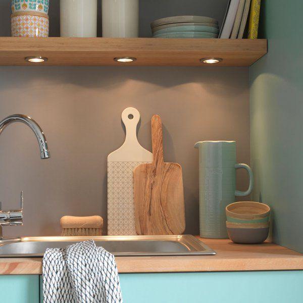 eclairage cuisine plan de travail Éclairage plan de travail : des spots encastrés