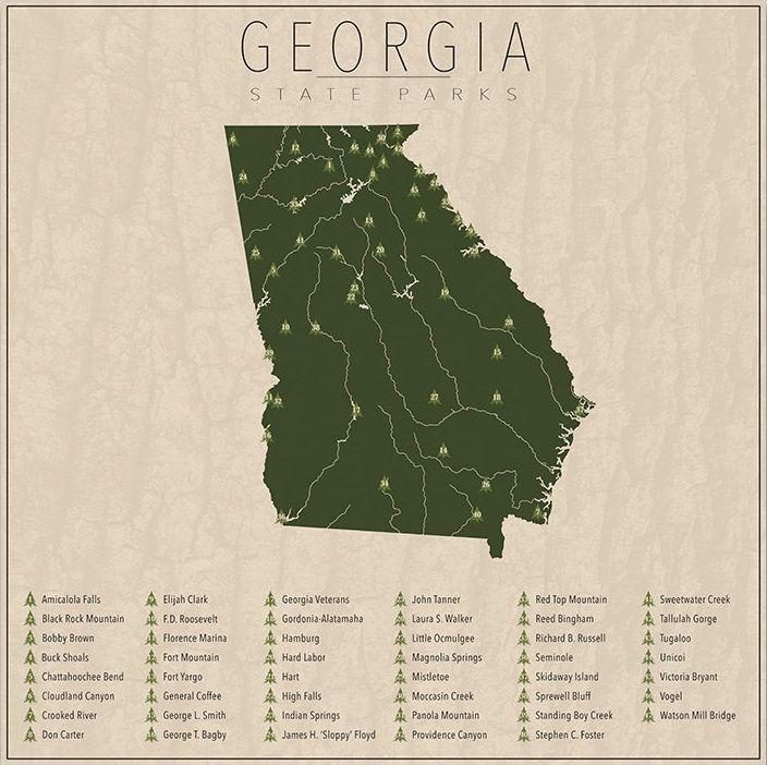 State Parks - Georgia - Vereinigte Staaten von Amerika / United States of America / USA