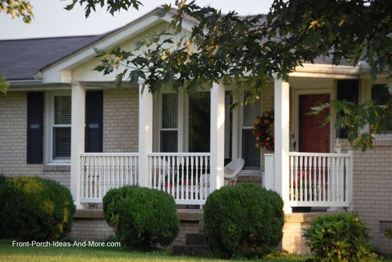 Ranch home porches add appeal and comfort porch railings for Ranch style front porch