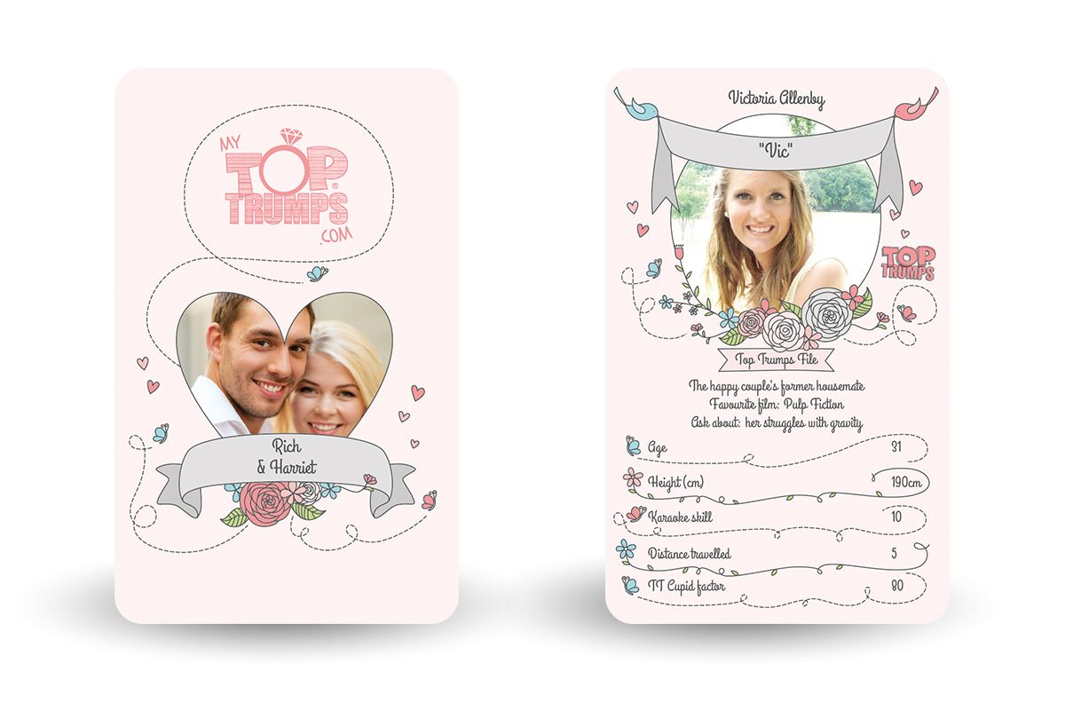 Our Wedding Decks Come With Special Top Trumps Categories Packs Are Made Up
