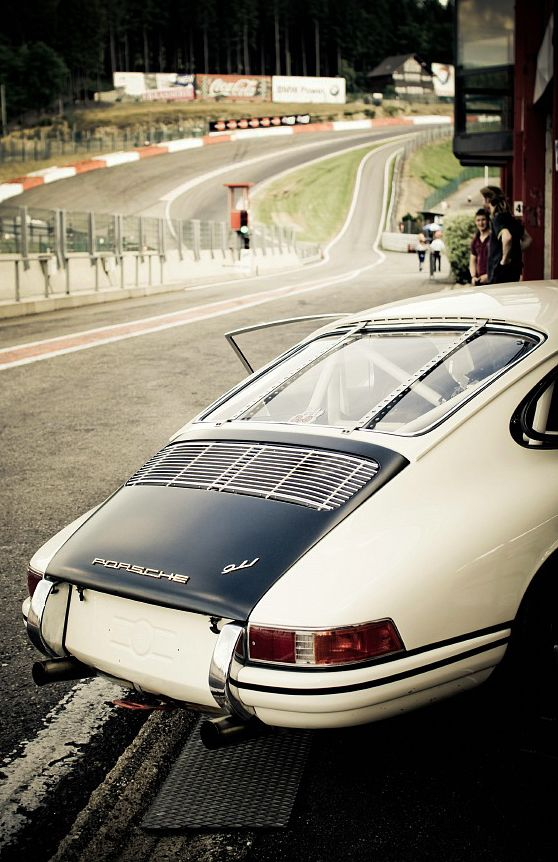 Early Porsche 911 At Spa Francorchamps Circuit In Belgium