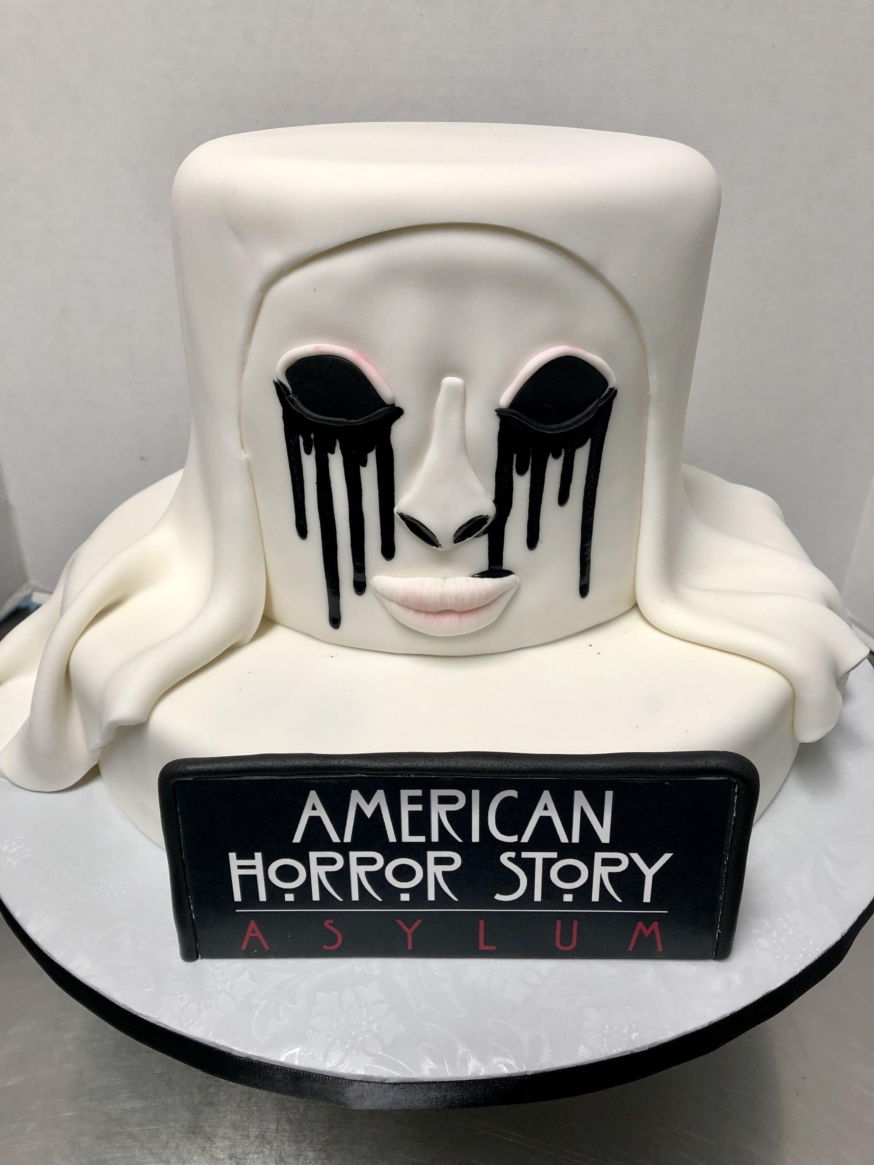White Nun American Horror Story Asylum Cake Horror Cake Halloween Birthday Cakes Fantasy Cake