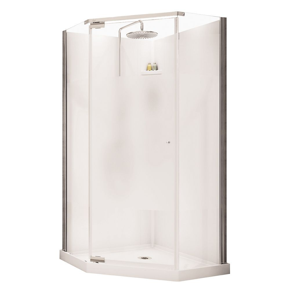 36 Inch X 36 Inch Lobelia Corner Fit Frameless Shower Stall