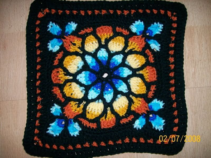 Stained Glass Window Afghan Afghan Crochet Patterns Crochet