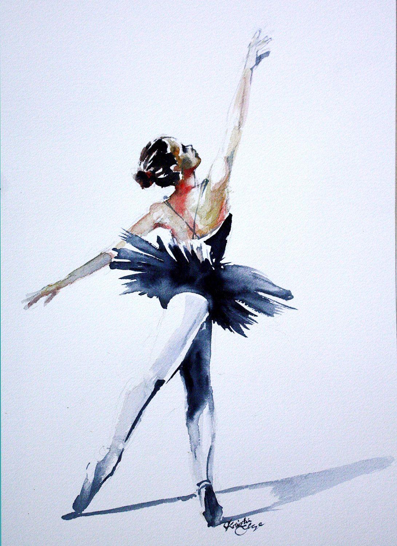 Magnifique Peinture Aquarelle Pinturas De Baile Pintura De