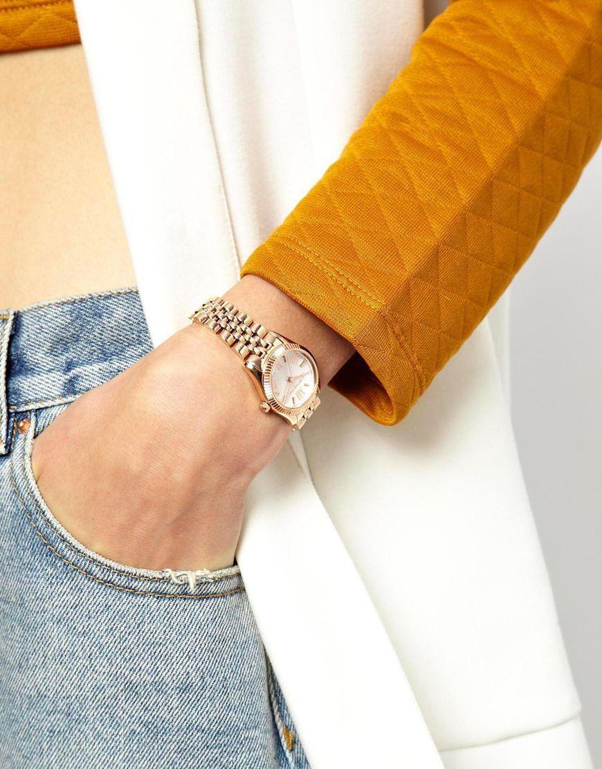 065957a87584 Image 3 of Michael Kors Lexington Mini Rose Gold Watch MK3230