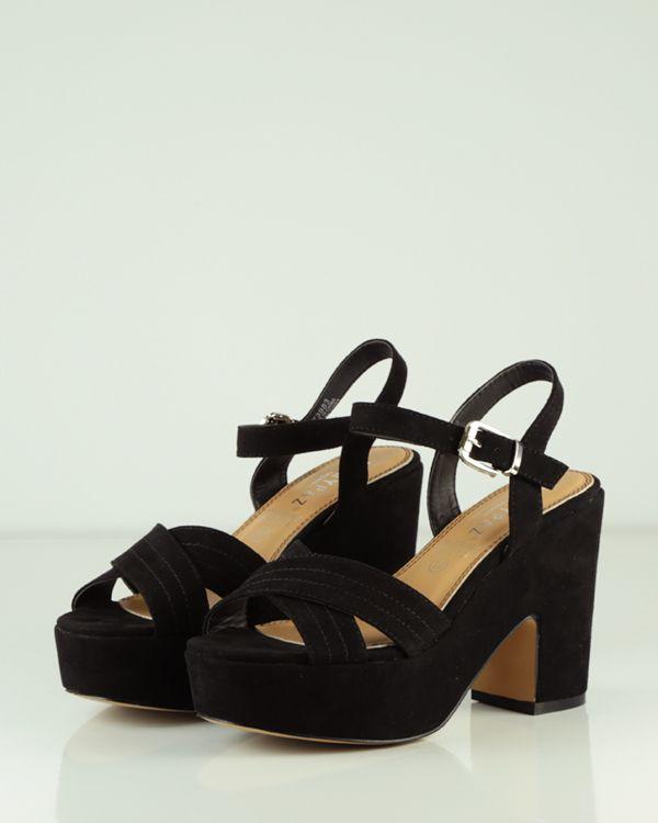 16f74acf SANDALIA DE TACÓN ANCHO Y PLATAFORMA CRUZADA | Shoes | Sandalias ...