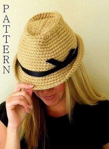 Fedora Hat Crochet Pattern pattern by Rebecca Smit   Pinterest ...