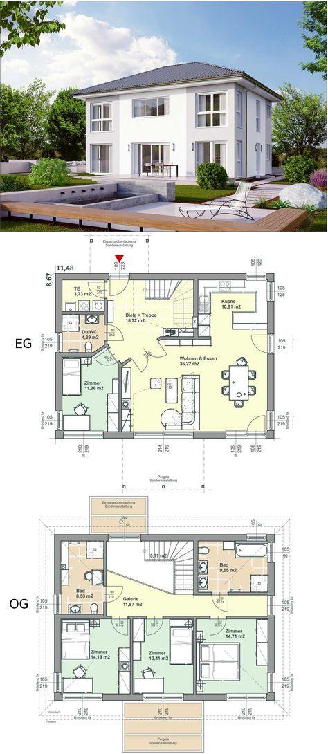 ELK Fertighaus 162 //+ extra 1 Schlafzimmer und 1