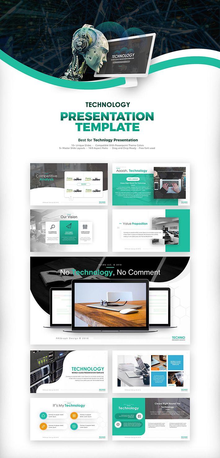 Free Download Modern Technology Presentation Template For Designers (UI/UX) | Design