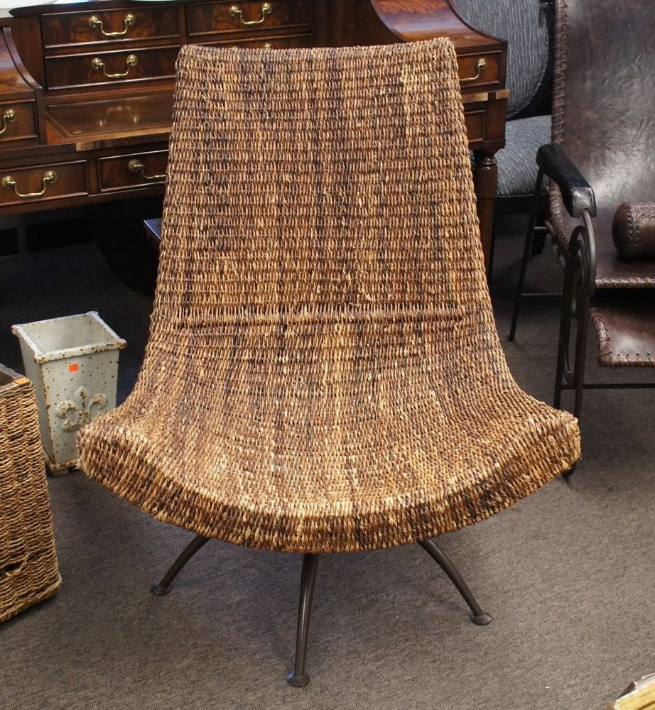 So Out Of Budget But So Beautiful 639$ Modern Contemporary Wicker Rattan  Outdoor Indoor Swivel