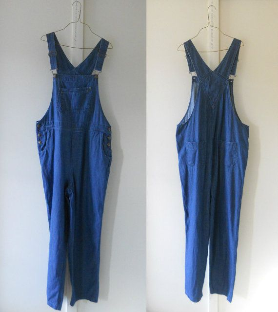 plus size overalls women denim overall women by thevillevintage