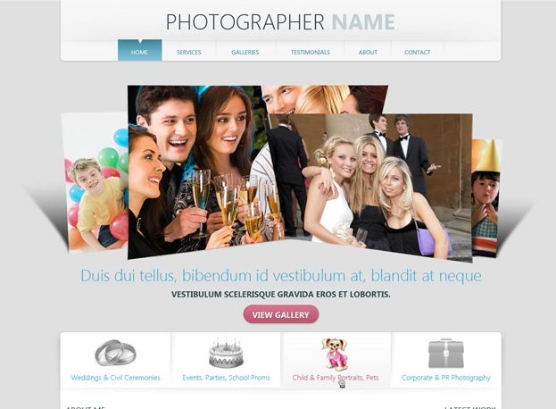 Template 156 this free photographer website template is ideal template 156 this free photographer website template is ideal solution for photographer website development wajeb Image collections