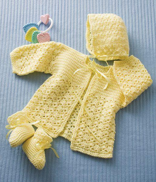 Free Baby Set Crochet Patterns Baby Crochet Crochet Baby