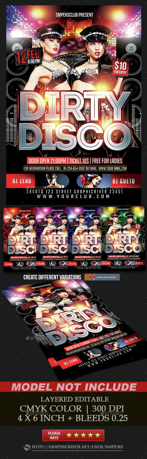 Dirty Disco  Discos And Flyer Template