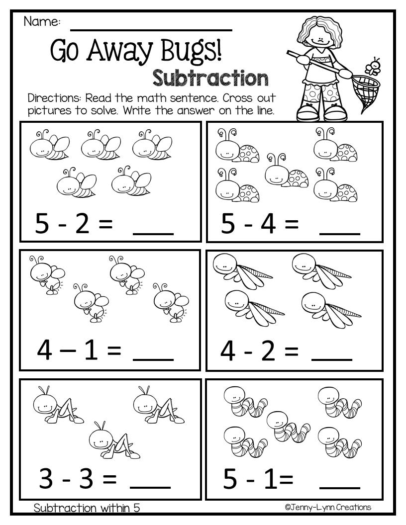 April Math & Literacy Preschool Kindergarten math