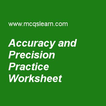 Accuracy And Precision Practice Worksheet Quiz Questions And Answers A Level Physics Practices Worksheets
