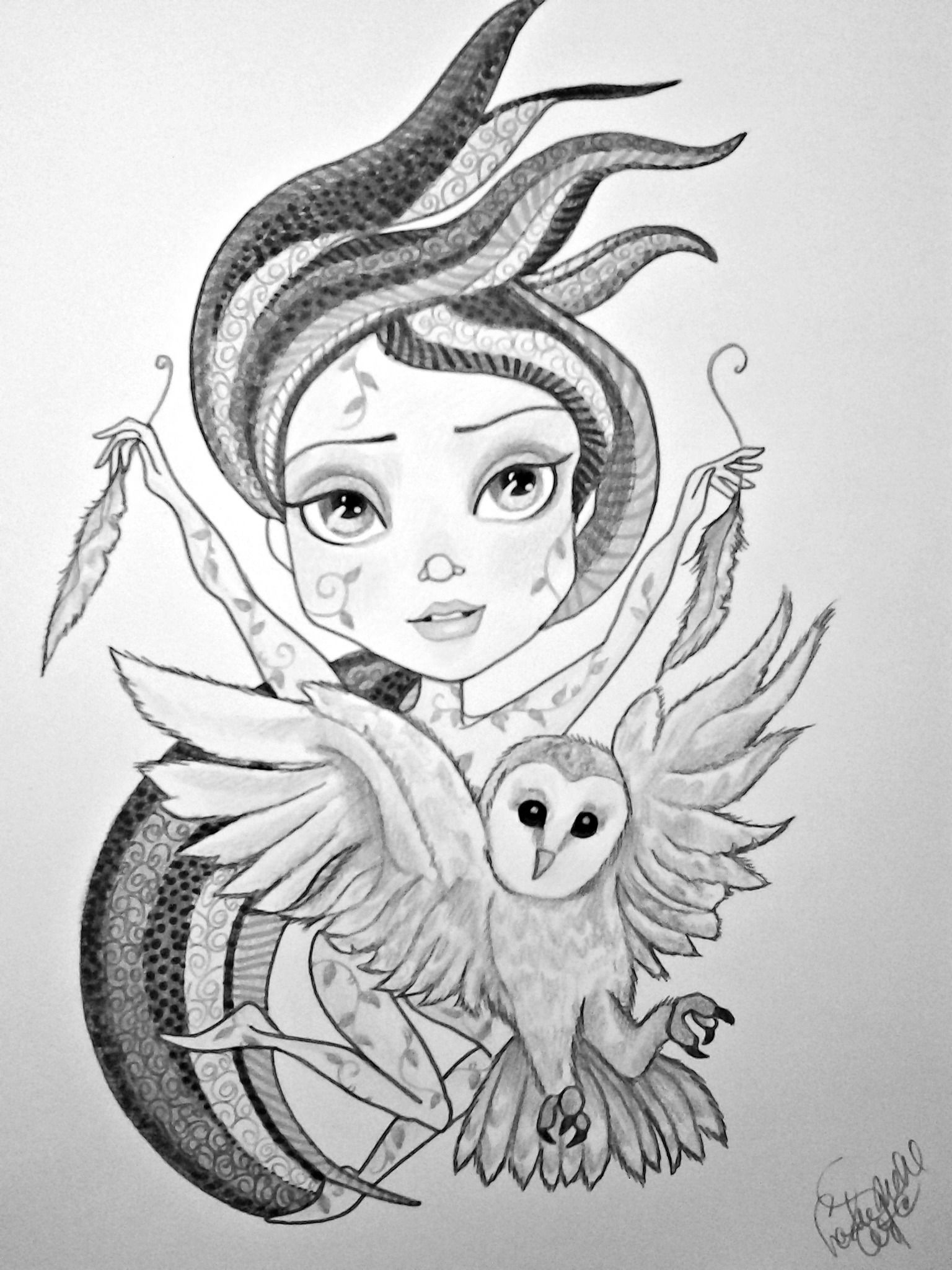 Pin by lailinda on fantasy women coloring pages   Doodle
