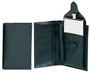 Simran S1600-WBLK Ajmer 3 oz. Stainless Steel Flask In Black Leather Wallet by Simran. $38.99. Great Gift Idea.. Design is stylish and innovative. Satisfaction Ensured.. Manufactured to the Highest Quality Available.. 3 oz. Stainless steel flask in black leather wallet.