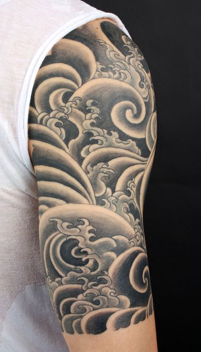 Japanese Tattoo Filler Designs Half Sleeve Tattoos For Guys