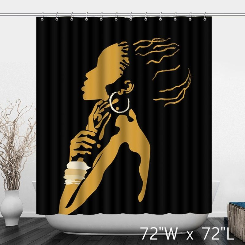 African Woman Painting Art Decor Shower Curtain With Images