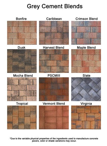 Colored Pavers Brick Paver Colors Install Pavers Brick
