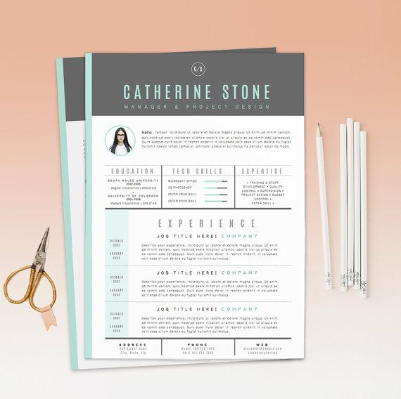 Resume Template / CV Template Cover Letter for by OddBitsStudio - example of a cover letter for a resume
