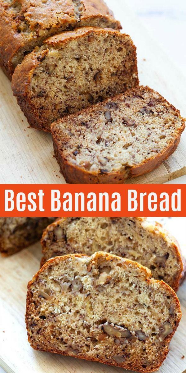Best Banana Bread Recipe With Overripe Bananas Walnuts And Brown Sugar This Recipe Is Banana Bread Recipe Easy Moist Homemade Banana Bread Best Banana Bread