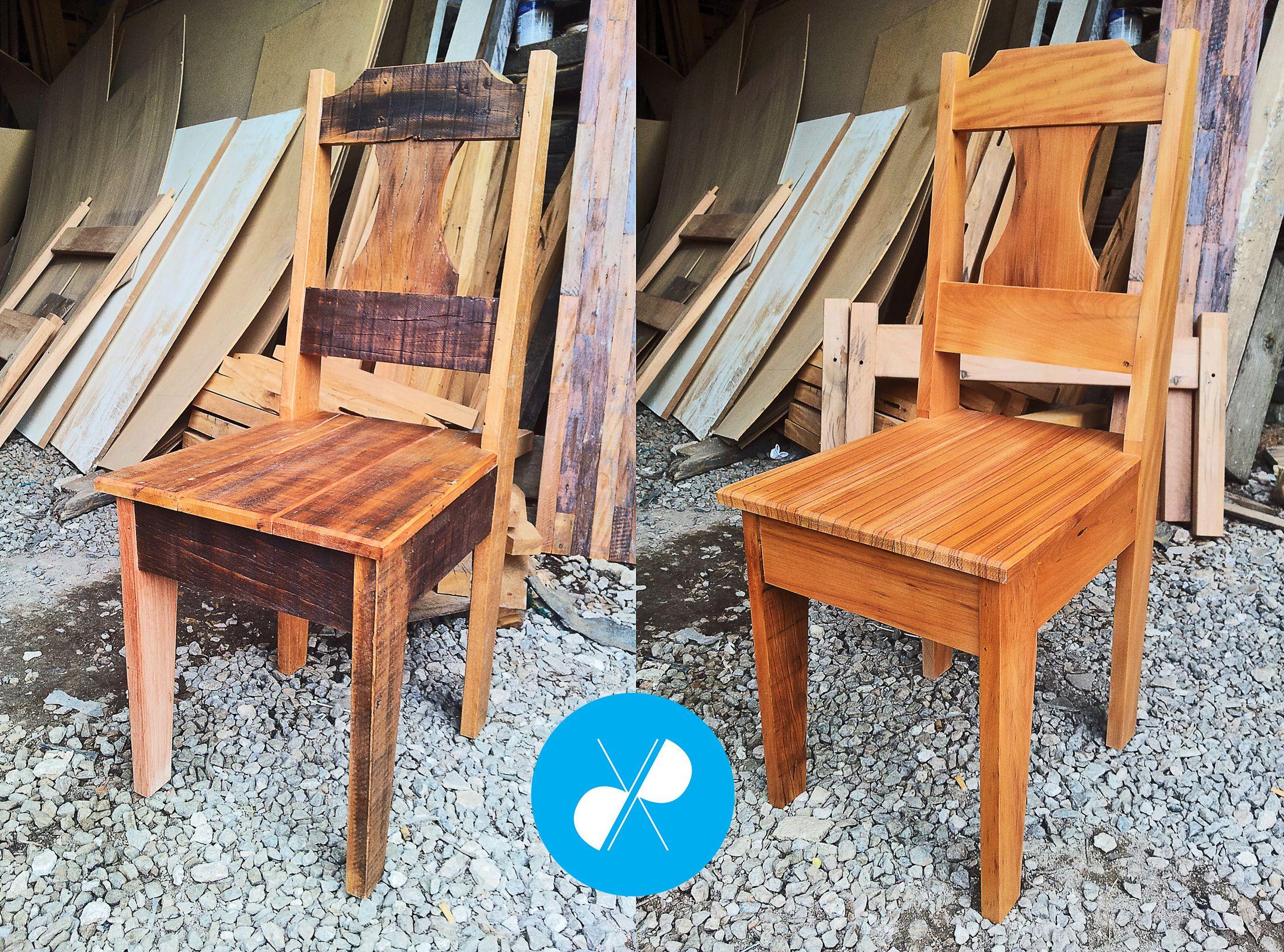 Cadeiras feitas com madeira de demolição, em acabamento rústico e fino.  Visite nosso site: http://vrmarcenaria.com.br/