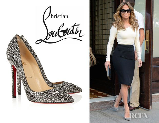 9932ef1d0183 Love Jennifer Lopez  outfit here. (Christian Louboutin Pigalle Crystal  Embellished Pumps)