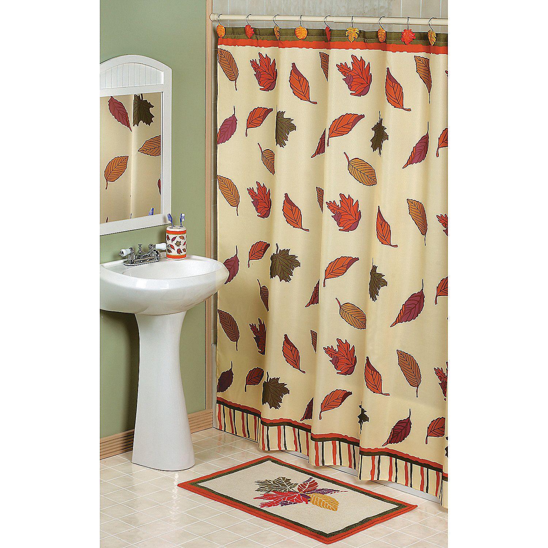 Fall Leaves Shower Curtain Fall Shower Curtain Fall Decor