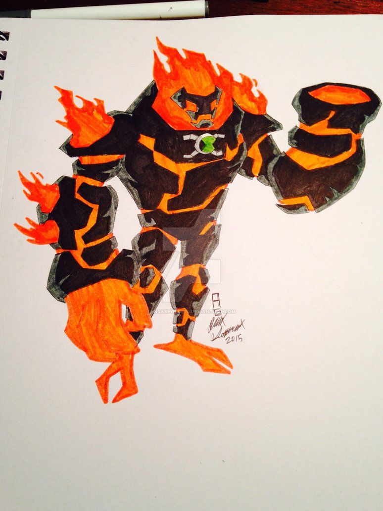 Ultimate Heatblast By Insane Mane Ben 10 10 Things Drawings