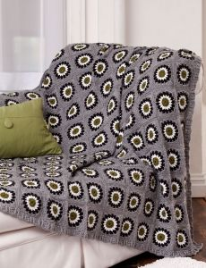 Bias Stripes Afghan | Yarn | Free Knitting Patterns | Crochet Patterns | Yarnspirations