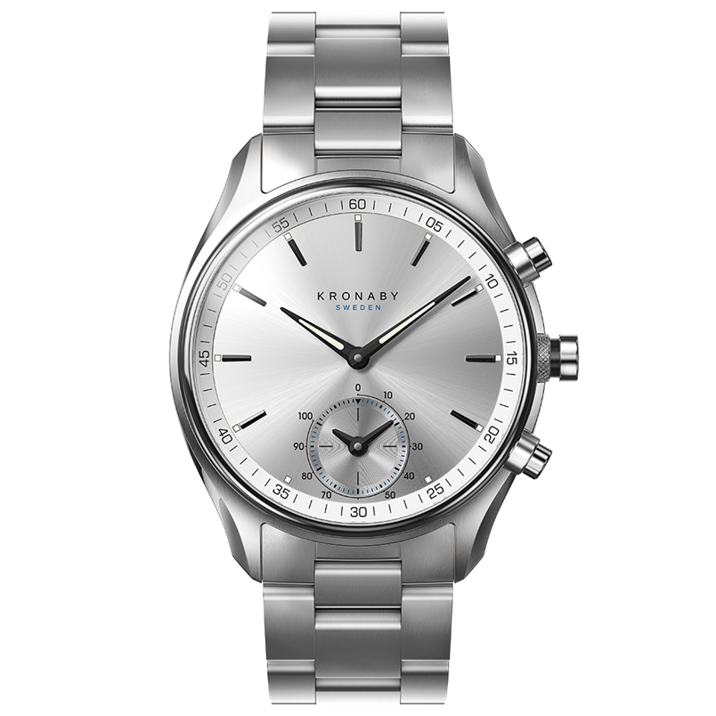 Kronaby Watch - Sekel Sterling Stainless Stainless - Front