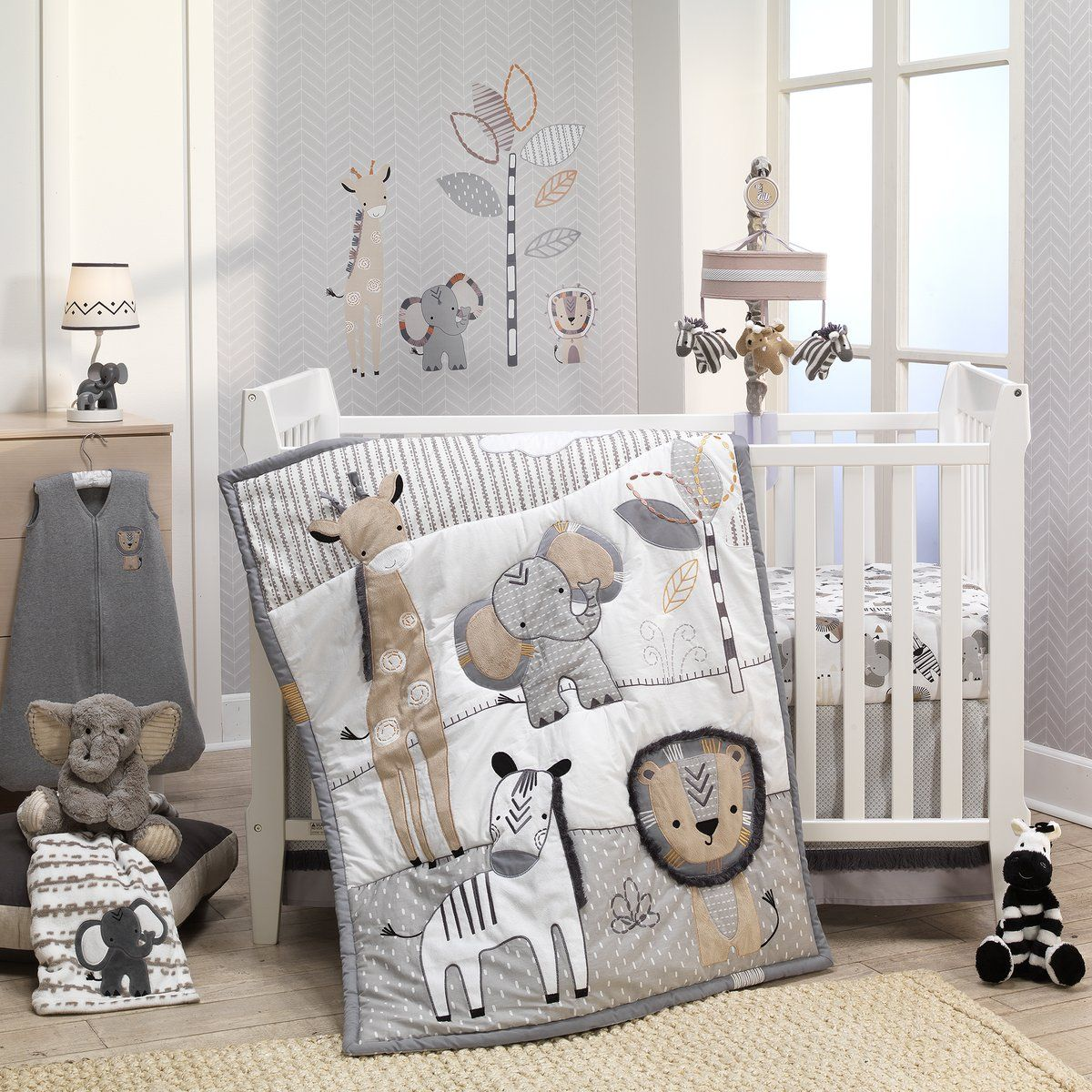 Nursery 6 Piece Baby Crib Bedding Set