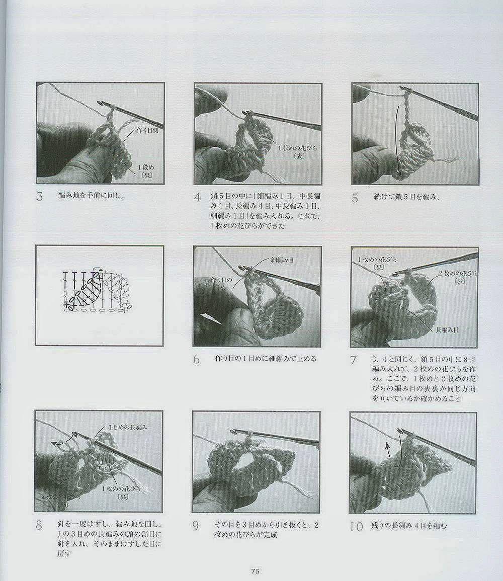 Punto Mariposa en Crochet Tutorial - Patrones Crochet   Arte que ...