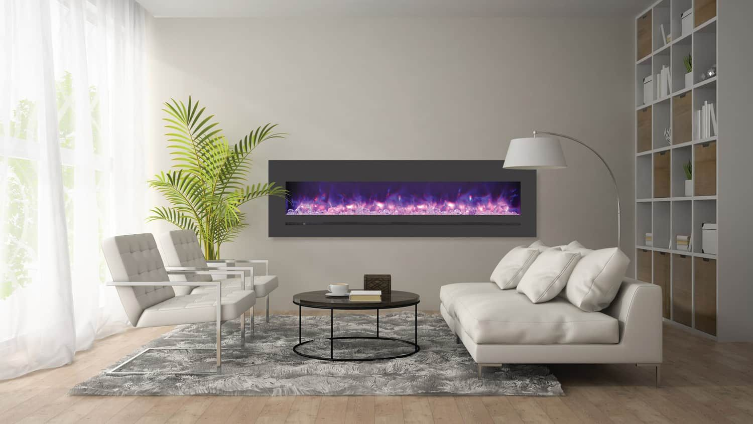 Sierra Flame Wm Fml 72 7823 Stl Linear Fireplace With Images