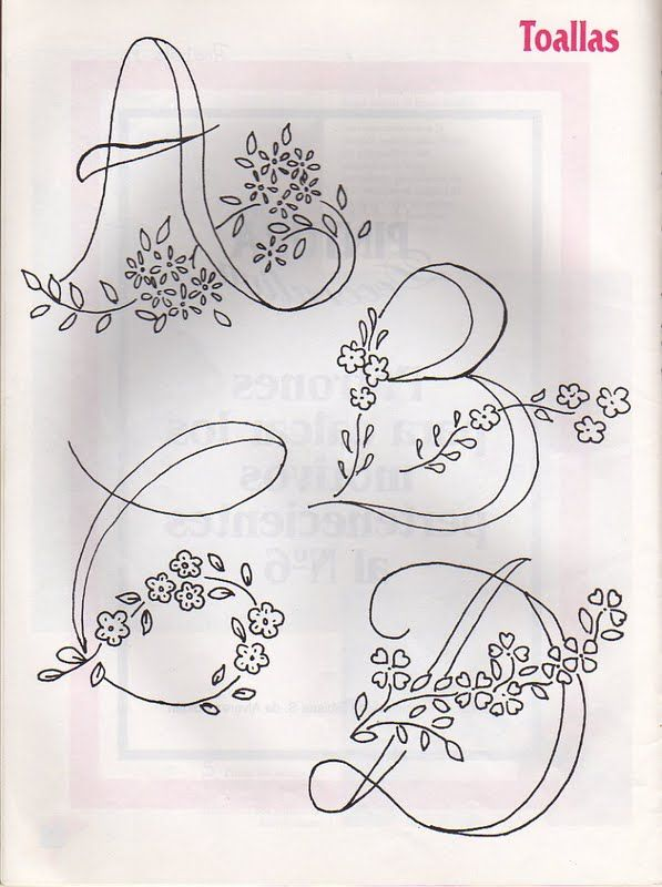 Moldes Para Artesanato em Tecido: Alfabetos para Bordar   Letras ...