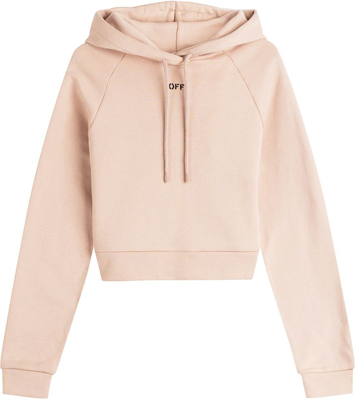 d24cba3b6c623e Off-White Cropped Cotton Hoody on ShopStyle.