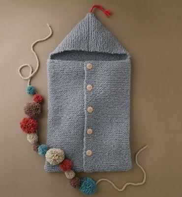 Mod le nid d 39 ange cocoon layette knit knitting knitted pinterest sacs points de couture - Patron nid d ange bebe gratuit ...