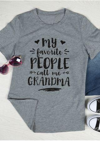 515f33e99f My Favorite People Call Me Grandma | Cricut | Momma shirts, Mom ...