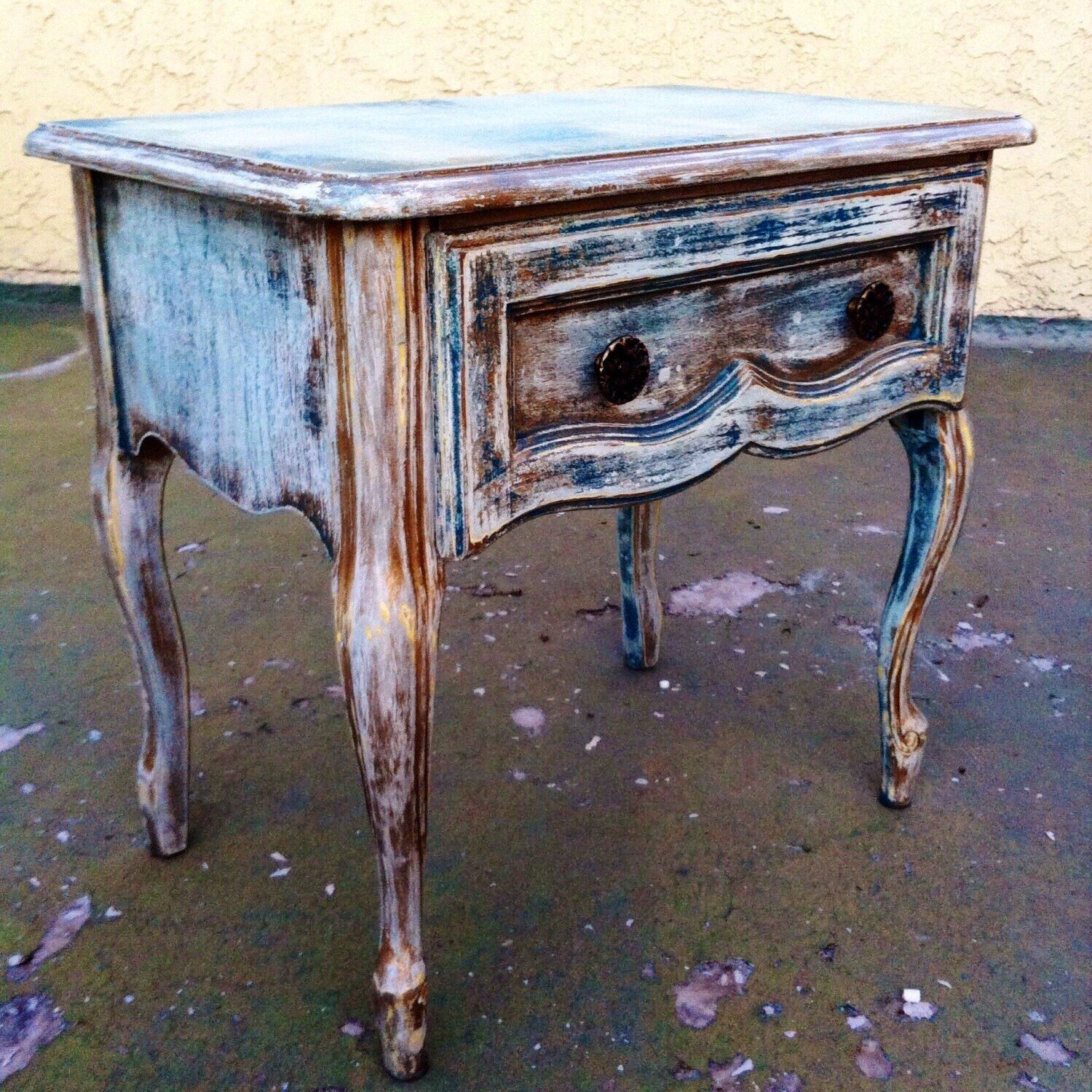 SOLD - Shabby Chic End Table, side table, Vintage nightstand ...