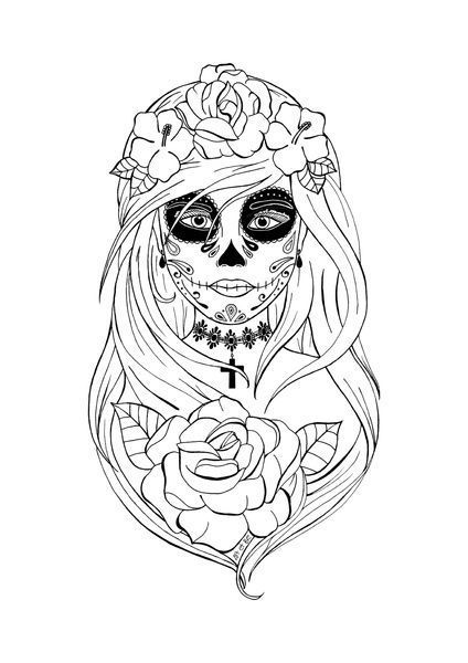 Pin By максим киселев On Day Of The Dead Santa Muerte Art Skull