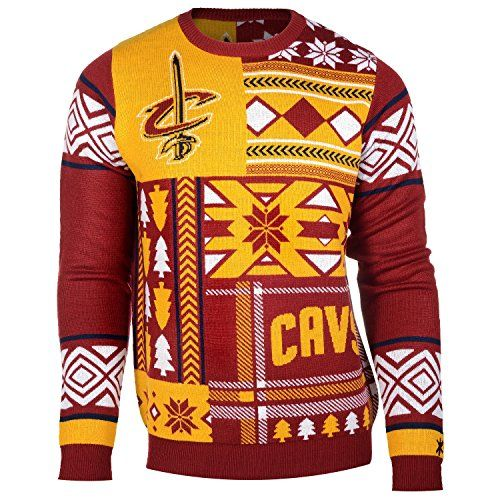 dfc3c0c77 NBA Cleveland Cavaliers Patches Ugly Sweater Red Medium     For more  information