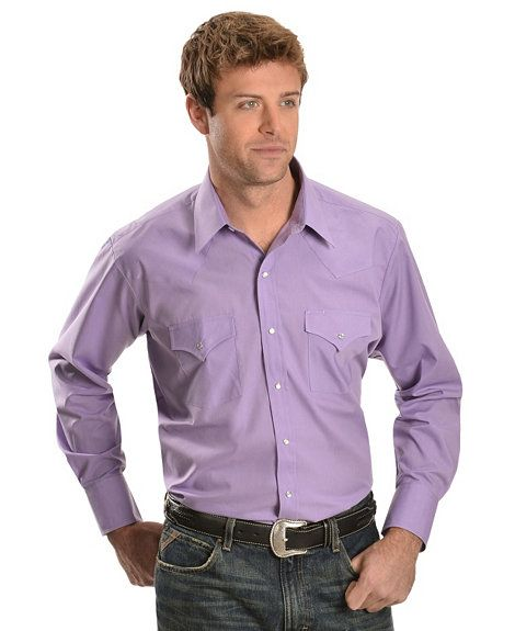 Ely Classic Lavender Western Shirt - T2