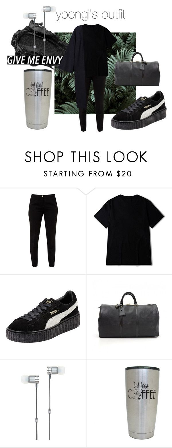 """""""min yoongi's look."""" by makeemwhistle on Polyvore featuring Urban Decay, Ted Baker, Puma, Louis Vuitton, Master & Dynamic и Denis Colomb"""