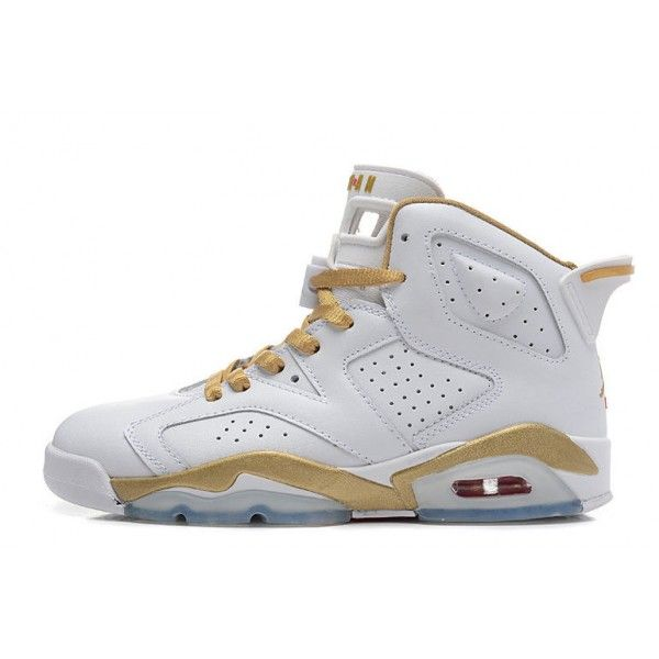 air jordan 6 retro gold medal white gym red metallic gold sail